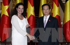 Thủ tướng Nguyễn Tấn Dũng hội kiến Chủ tịch Thượng viện Bỉ