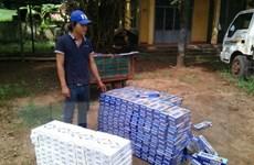 Tây Ninh bắt vụ vận chuyển lậu 9.000 bao thuốc lá từ Campuchia