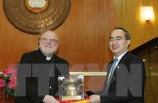 Ông Nguyễn Thiện Nhân tiếp Chủ tịch Hội đồng Giám mục Đức