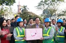 Bí thư Thành ủy Hà Nội thăm, chúc Tết người lao động Thủ đô