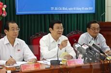 Chủ tịch nước lắng nghe tâm tư của các doanh nghiệp TP.HCM