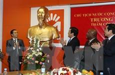 Chủ tịch nước Trương Tấn Sang thăm Công ty viễn thông Movitel