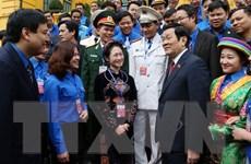 Chủ tịch nước gặp mặt cán bộ đoàn và đoàn viên tiêu biểu