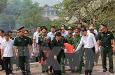 Truy điệu, an táng hài cốt liệt sỹ quân tình nguyện hy sinh tại Lào