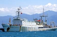 Tàu thủy văn Hải quân Liên bang Nga ghé trú đậu tại Việt Nam