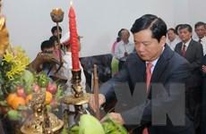 Dâng hương kỷ niệm 126 năm Ngày sinh Chủ tịch Hồ Chí Minh