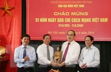 Chủ tịch MTTQ Việt Nam chúc mừng Ngày báo chí Cách mạng