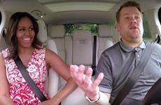 Bà Michelle Obama gây sốt vì hát karaoke trong xe ôtô