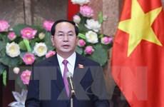 Chủ tịch nước Trần Đại Quang trả lời phỏng vấn báo chí