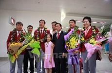Đoàn thể thao Việt Nam trở về nước sau kỳ Olympic thi đấu thành công