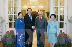 Chủ tịch nước Trần Đại Quang hội đàm với các nhà lãnh đạo Singapore