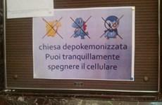 Nhà thờ ở Italy tuyên bố cấm cửa trò chơi Pokemon gây sốt