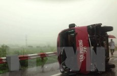 Tạm giữ lái xe trong vụ lật xe khách trên cao tốc Pháp Vân-Cầu Giẽ