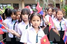 Học sinh Trường song ngữ Lào-Việt Nam Nguyễn Du vào năm học mới