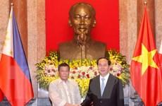 Chủ tịch nước Trần Đại Quang hội đàm với Tổng thống Philippines