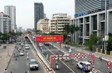 Phân luồng giao thông phục vụ thi công cầu vượt Láng Hạ-Thái Hà