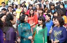 Phó Chủ tịch nước Đặng Thị Ngọc Thịnh tiếp các nhà giáo tiêu biểu
