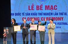Sân khấu thử nghiệm Việt Nam giành tới 17 huy chương Vàng