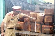 Thừa Thiên-Huế: Bắt 2 vụ vận chuyển gỗ lậu không rõ nguồn gốc