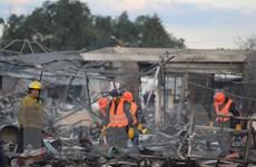 Số người thiệt mạng trong vụ nổ chợ pháo hoa ở Mexico tiếp tục tăng