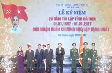 Chủ tịch nước: Hà Nam cần ưu tiên phát triển công nghiệp giá trị cao