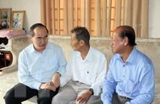 Chủ tịch MTTQ Nguyễn Thiện Nhân thăm, chúc Tết tại Vĩnh Long