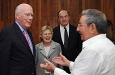 Chủ tịch Castro tiếp đoàn nghị sỹ Mỹ thúc đẩy quan hệ với Cuba