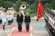 Chủ tịch nước Trần Đại Quang hội kiến với Nhà vua Nhật Bản Akihito