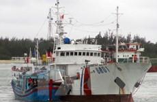 Lai dắt thành công tàu cá của ngư dân Khánh Hòa bị nạn trên biển