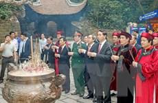 Chủ tịch nước Trần Đại Quang dâng hương Giỗ Tổ Hùng Vương