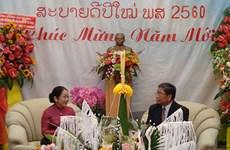 Lãnh đạo Thành phố Hồ Chí Minh chúc Tết cổ truyền Bun Pi May của Lào