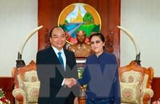 Thủ tướng Nguyễn Xuân Phúc gặp gỡ lãnh đạo Đảng, Nhà nước Lào