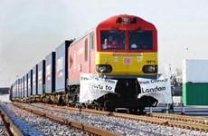 Chuyến tàu hỏa chở hàng lịch sử đầu tiên của Anh đã tới Trung Quốc