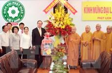 Chủ tịch Mặt trận Tổ quốc Việt Nam chúc mừng lễ Phật đản tại TP.HCM