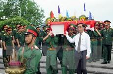 Quảng Trị an táng hài cốt liệt sỹ Việt Nam hy sinh tại Lào