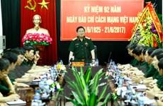 Bộ trưởng Quốc phòng thăm và chúc mừng các cơ quan báo chí quân đội