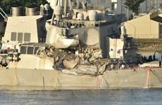Thấy thi thể thủy thủ tàu khu trục Mỹ bị tàu Philippinnes đâm thủng