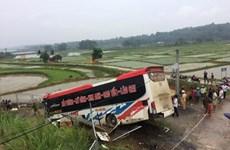 Xe khách mất lái trên cao tốc Hà Nội-Lào Cai, hàng chục thương vong