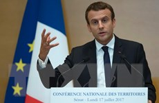 Tỷ lệ ủng hộ Tổng thống Pháp Emmanuel Macron giảm mạnh