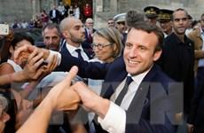 Tỷ lệ ủng hộ Tổng thống Pháp Emmanuel Macron tiếp tục giảm