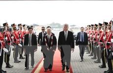 Tổng Bí thư Nguyễn Phú Trọng bắt đầu thăm chính thức Indonesia