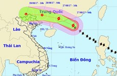 Bão số 7 đi vào phía Nam Trung Quốc, từ đêm 27/8 Bắc Bộ mưa lớn