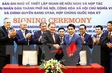 Kết nối, hợp tác giữa thành phố Hà Nội và bang Utah của Hoa Kỳ