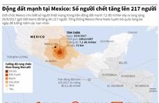 [Infographics] Đã có 217 người thiệt mạng do động đất tại Mexico