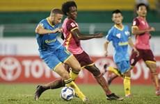 Sài Gòn FC và Sanna Khánh Hòa BVN chia điểm trên sân Thống Nhất