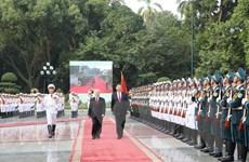 Tổng Bí thư Nguyễn Phú Trọng chủ trì Lễ đón Tổng Bí thư Trung Quốc