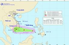 Áp thấp nhiệt đới đã đi vào khu vực phía Nam biển Đông