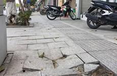 Hà Nội thanh tra việc lát đá vỉa hè chưa đảm bảo chất lượng