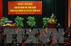 Hội nghị toàn quân triển khai nhiệm vụ công tác đảng, chính trị 2018