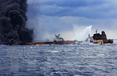 Số vệt dầu loang từ tàu Sanchi bị đắm của Iran đang tăng nhanh